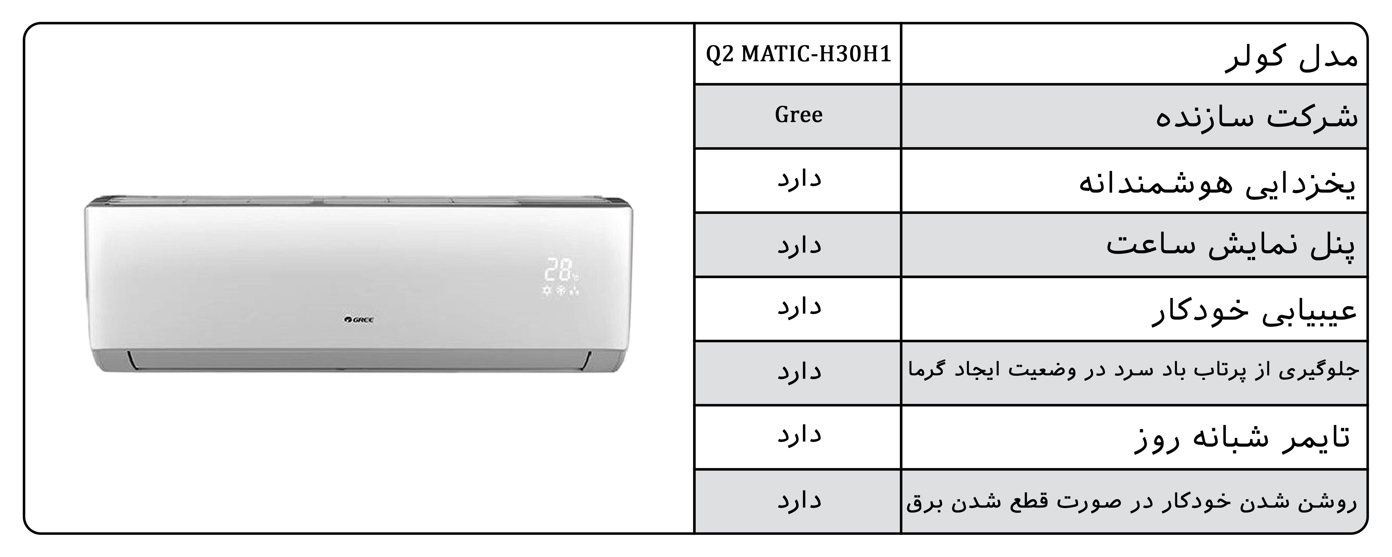 کولر گازی گری q2matic-h30h1